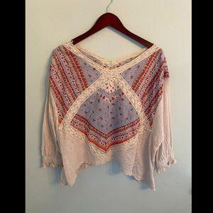 ✨HP✨ Free People Women's Prairie Days Knit Blouse